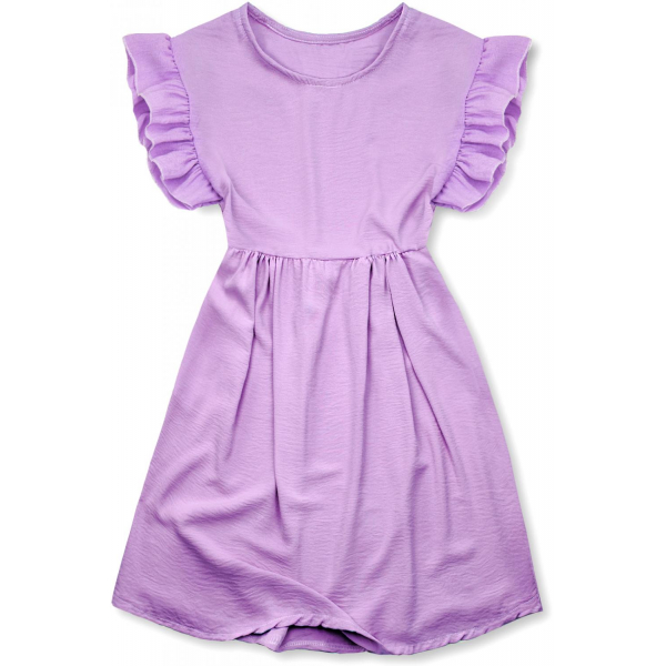 Kleid aus weicher Viskose violet