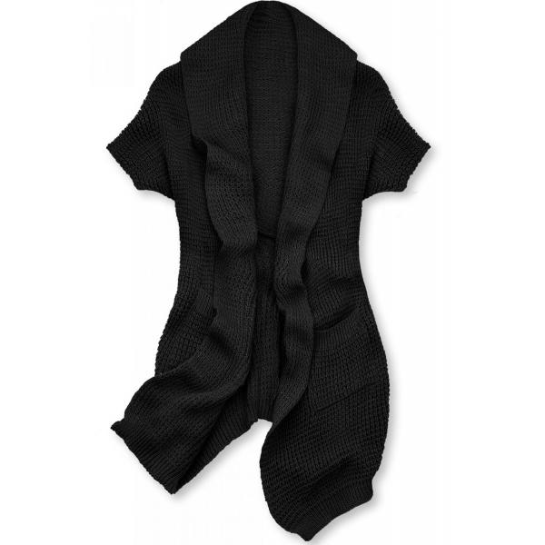 Cardigan ohne Verschluss schwarz