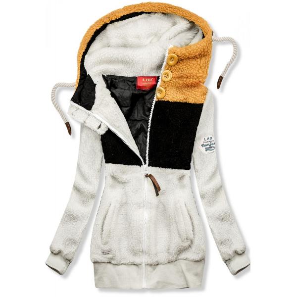 Winter Sweatjacke weiß-schwarz