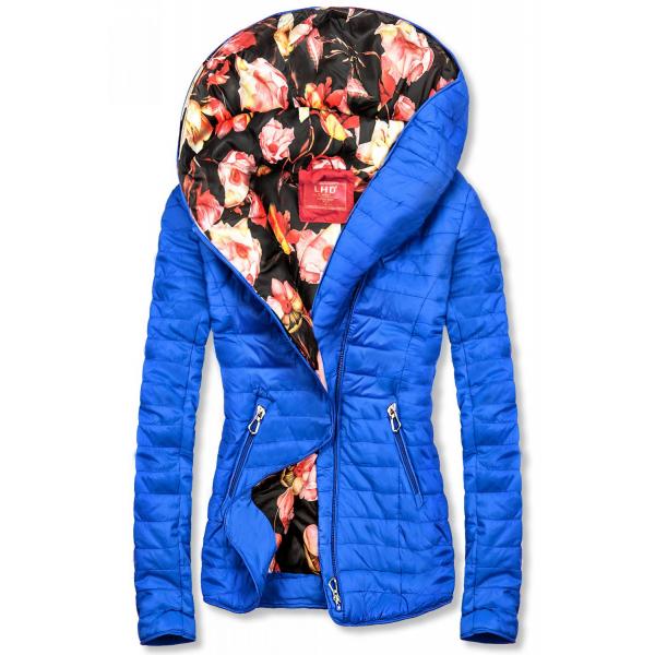 Jacke mit Blumenfutter von LHD blau