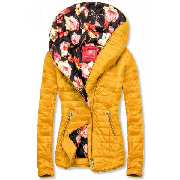 Jacke mit Blumenfutter von LHD gelb