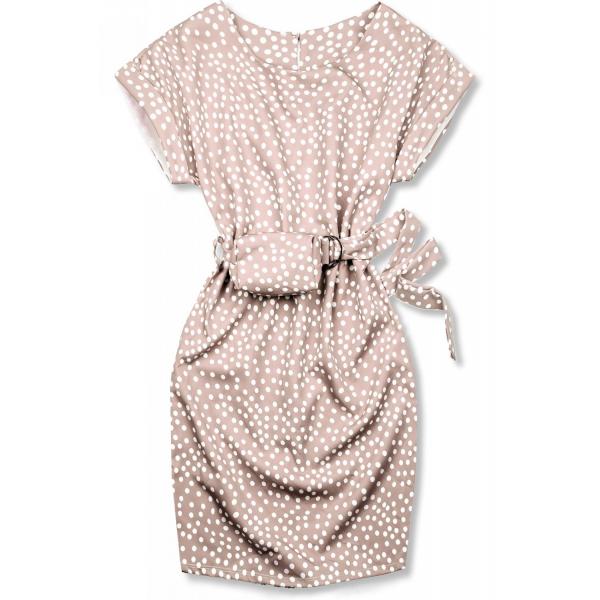 Hellrosa Kleid mit Tasche in der Taille